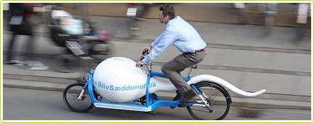 Le transport écolo de spermatozoïdes se fait désormais à vélo