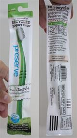 PRESERVE : une brosse à dents écologique