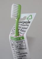 Les informations pour le recyclage figurent au dos du packaging qui sert d'enveloppe pré payée