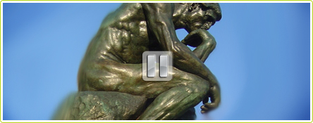 Le penseur de Rodin aussi débranche son cerveau avec La Petite Pause Cérébrale de l'Eco-Blog