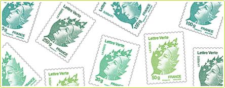 """Le nouveau timbre """"écologique"""" édité par La Poste"""