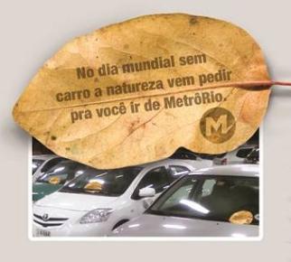 Journée mondiale sans voiture - flyer MétrôRio
