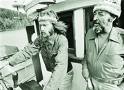 Bob Hunter et Ben Metcalfe lors de la première campagne de Greenpeace en 1971