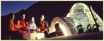 Bivouac hivernal en igloo