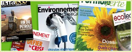 12 magazines d'environnement et de développement durable pour professionnels, entreprises ou collectivités
