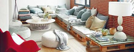 inspiration bricolage et d coration 100 id es pour recycler des palettes. Black Bedroom Furniture Sets. Home Design Ideas