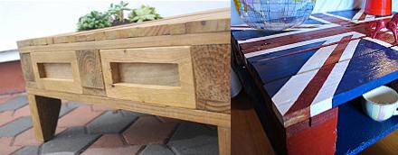beaucoup de crativit pour ces tables basses - Comment Fabriquer Un Meuble En Palette