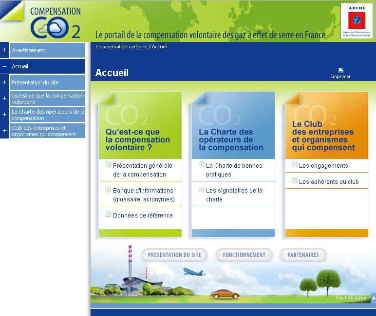 Compensation CO2 : le portail ADEME de la compensation volontaire des gaz à effet de serre en France