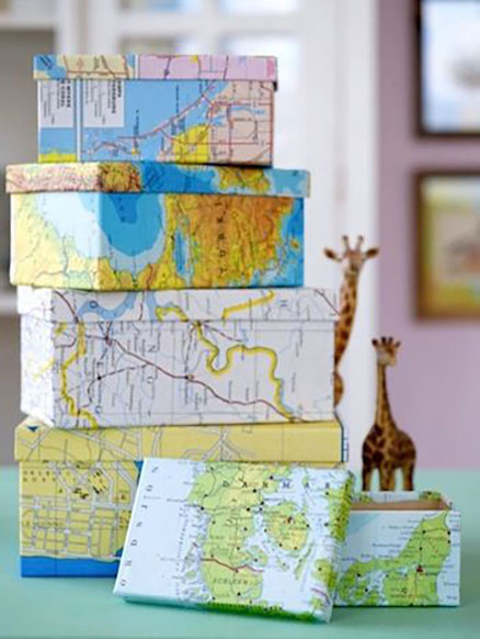 emballage cadeau recyclage carte