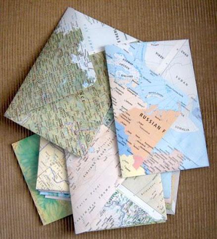 enveloppe à offrir avec un motif de carte