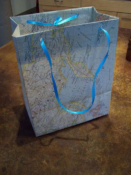 emballage cadeau carte sac de shopping