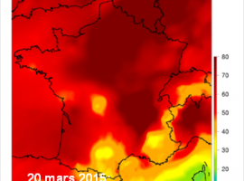 Pollution aux particules fines mars 2015 ©Prev'air