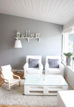 27 fa ons de recycler des palettes en meubles - Table basse palette blanche ...
