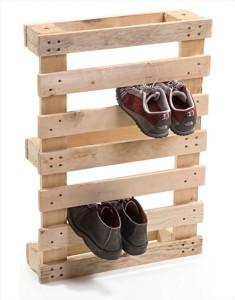 Rangement à chaussures en palettes