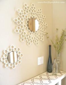 tuyaux PVC miroirs