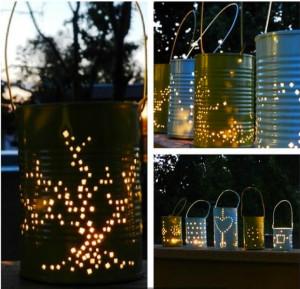 lanternes boites de conserve