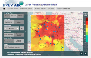 La pollution en France en janvier 2017
